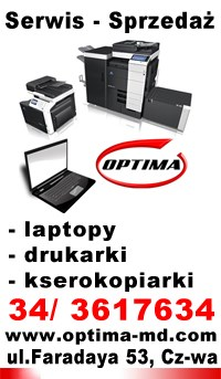 Częstochowa, optima-md, serwis laptopów, serwis drukarek, serwis kserokopiarek