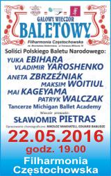 Galowy Wieczór Baletowy. Filharmonia Częstochowska, 22 maja 2016r.