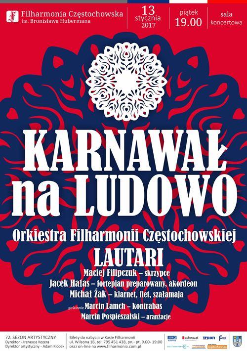 Karnawał na ludowo Filharmonia Częstochowska