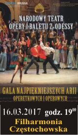 Gala Najpiękniejszych Arii Operetkowych i Operowych. Filharmonia Częstochowska 16.03.2017