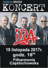 Koncert IRA Częstochowa 19.11.2017
