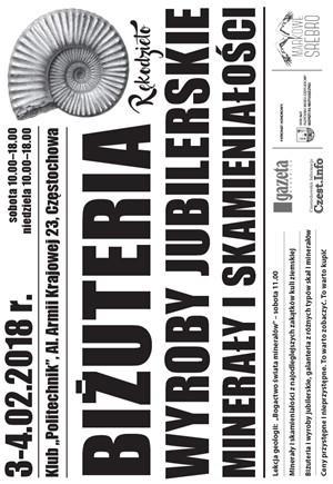 Biżuteria wyroby jubilerskie minerały i skamieniałości 02.03-04.2018