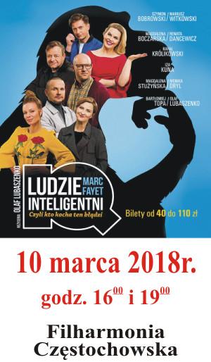 Ludzie Inteligentni 10.03.2018 Filharmonia Częstochowska