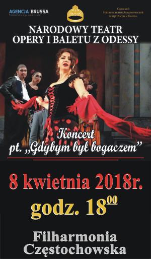 Narodowy Teatr Opery i  Baletu z Odessy 8.04.2018 Filharmonia Częstochowska