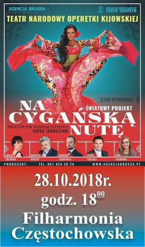 Na Cygańską Nutę. 28.10.2018 Filharmonia Częstochowska