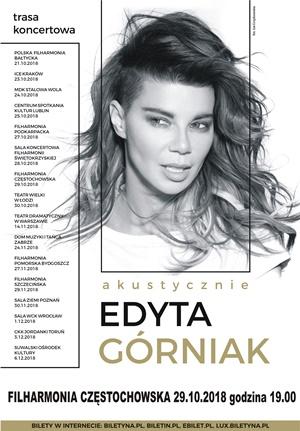 Edyta Górniak 29.10.2018 Filharmonia Częstochowska