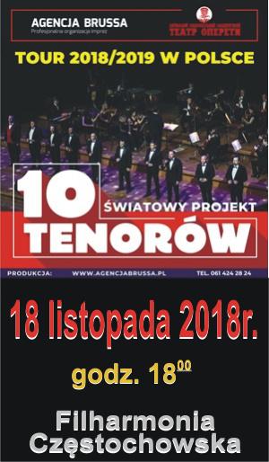 18.11.2018 Koncert 10 Tenorów