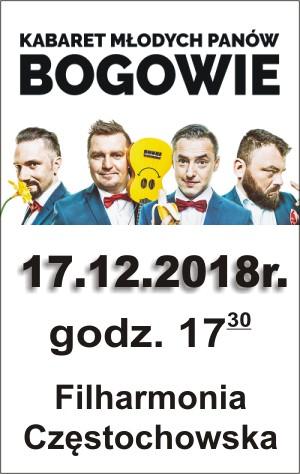Kabaret Młodych Panów Filharmonia Częstochowska 17.12.2018