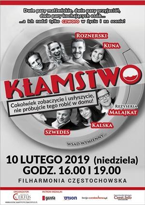 Kłamstwo 10.02.2019 Filharmonia Częstochowska