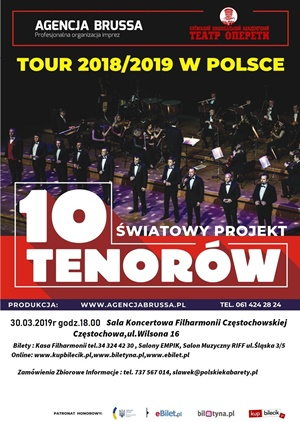 Koncert 10 Tenorów Częstochowa