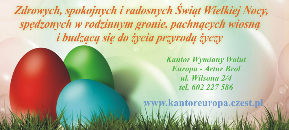 Życzenia Wielkanocne Kantor Europa