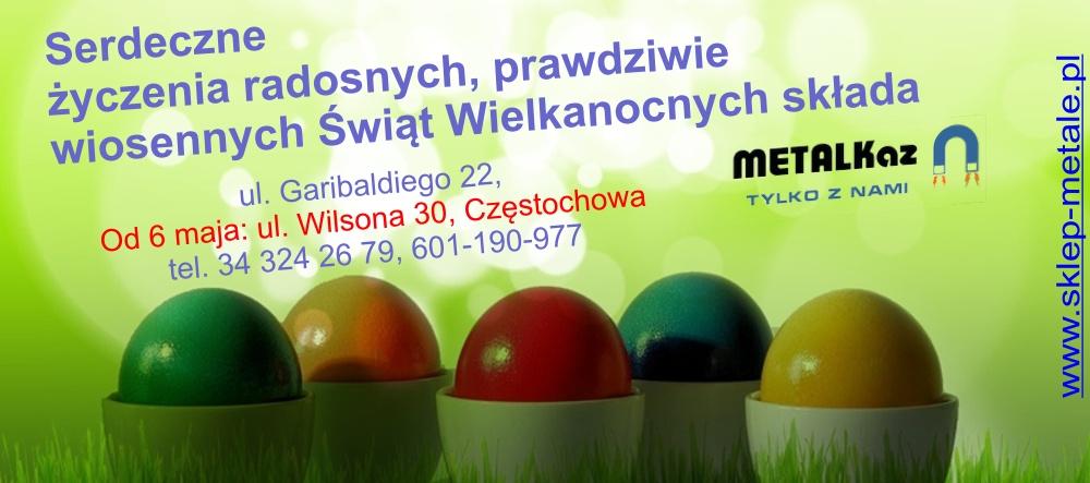 Życzenia Wielkanocne Metalkaz